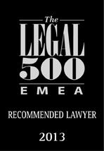 EMEA Legal 500 year 2013