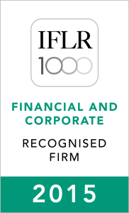 IFLR1000 (2015) Recognised Firm Rosette