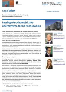 Leasing Finansowy - KZRP Newsletter, czerwiec 2015
