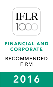 IFLR1000 (2016) Recommended Firm Rosette