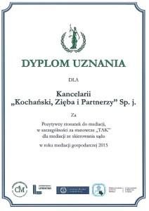 K&P dyplom uznania 2015 jpg
