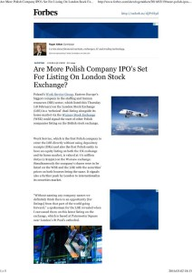 Are More Polish Company IPO's Set For Listing On London Stock Exchange_ - Forbes1