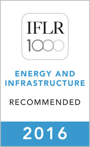 IFLR Energy & Infrastructure (2016) Recommended Firm Rosette