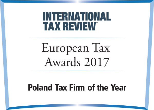 Poland Tax Firm of the Year European Tax Awards 2017 International Tax Review