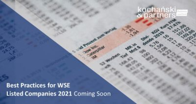 Best Practices For WSE Listed Companies 2021 Coming Soon