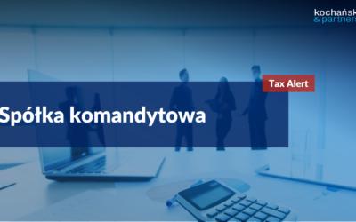 2020 12 28_Tax Alert_sp_komandytowe_Agata Dziwisz