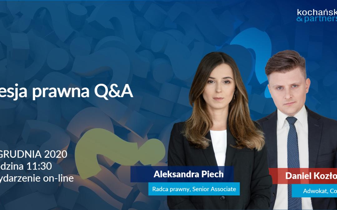 Sesja prawna Q&A