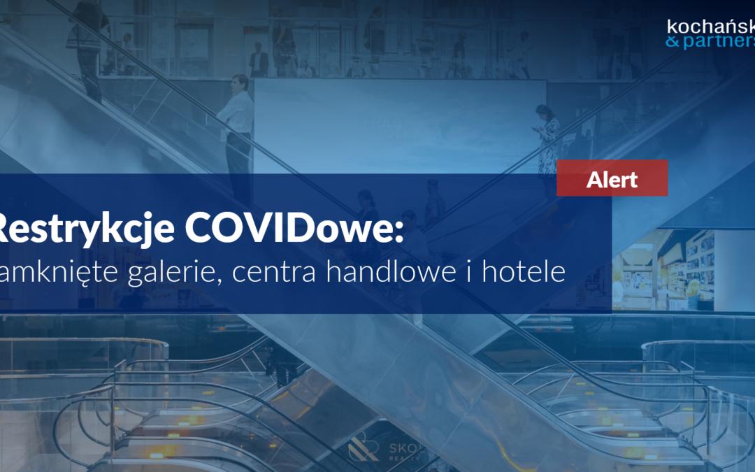 Restrykcje COVIDowe: zamknięte galerie, centra handlowe ihotele