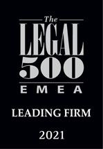 Legal 500 EMEA Leading Firm 2021