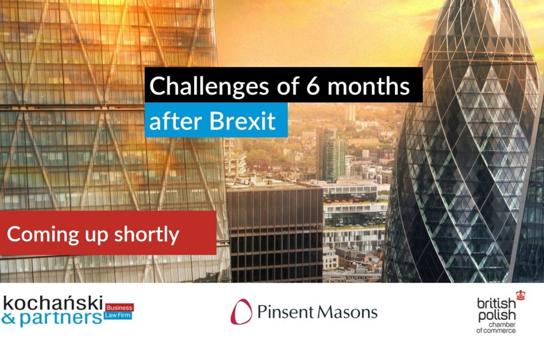 Challenges of 6 months after Brexit – practical experience