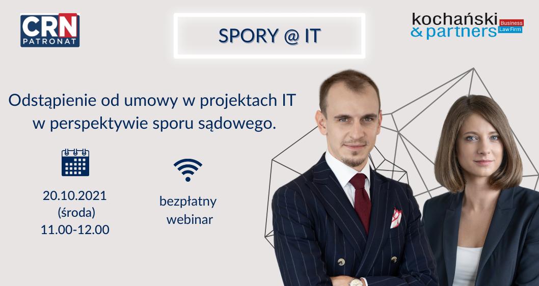 Webinarium: Odstąpienie odumowy wprojektach IT wperspektywie sporu sądowego
