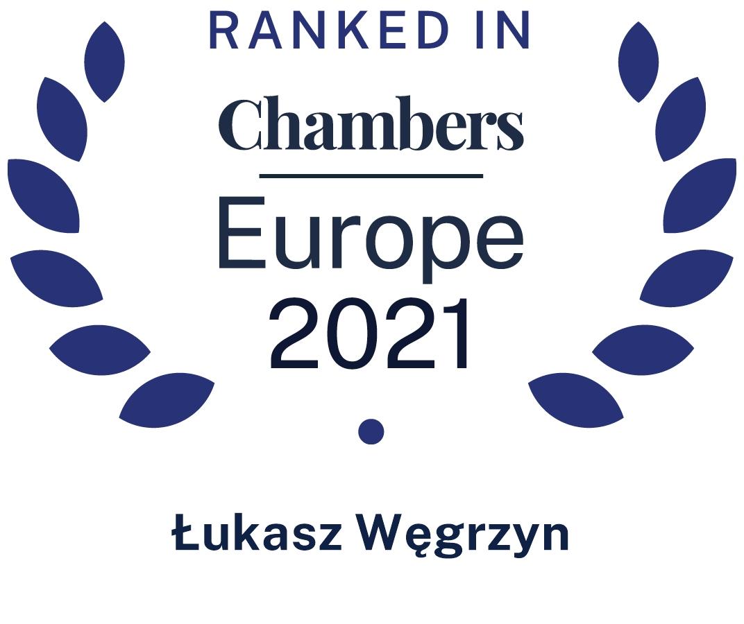 Chambers Europe 2021 Łukasz Węgrzyn