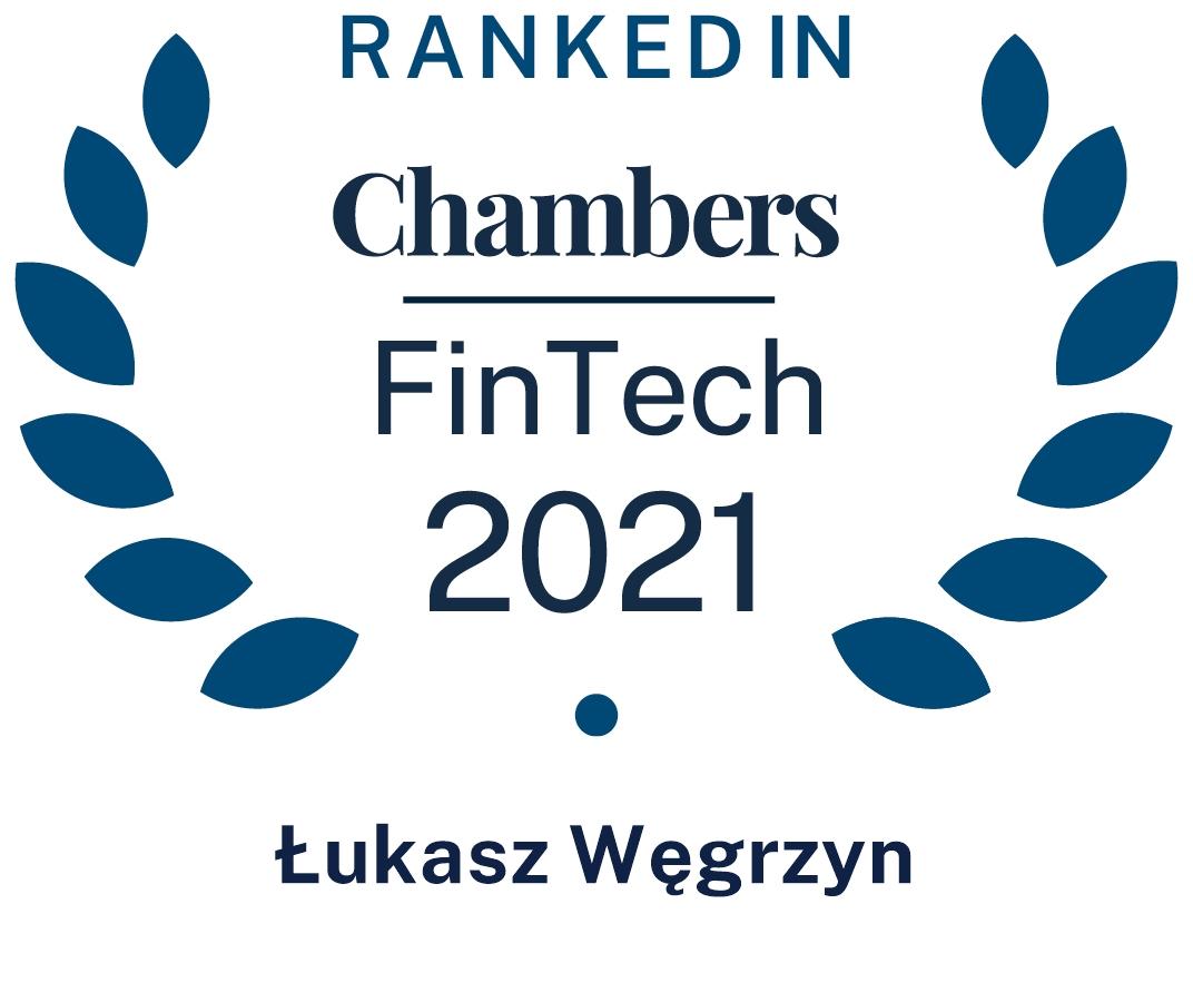 Chambers FinTech 2021 Łukasz Węgrzyn