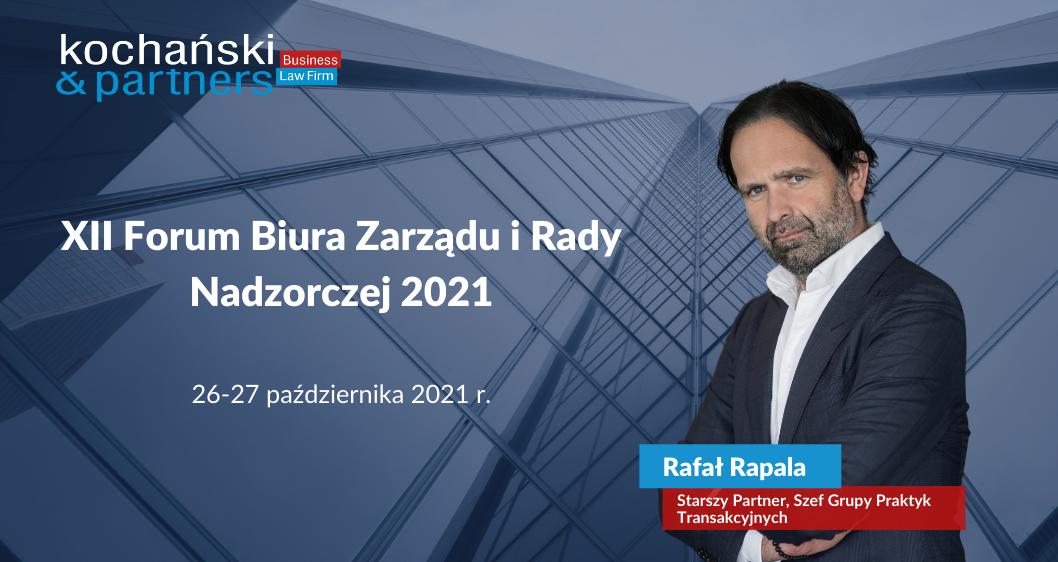 XII Forum Biura Zarządu iRady Nadzorczej 2021