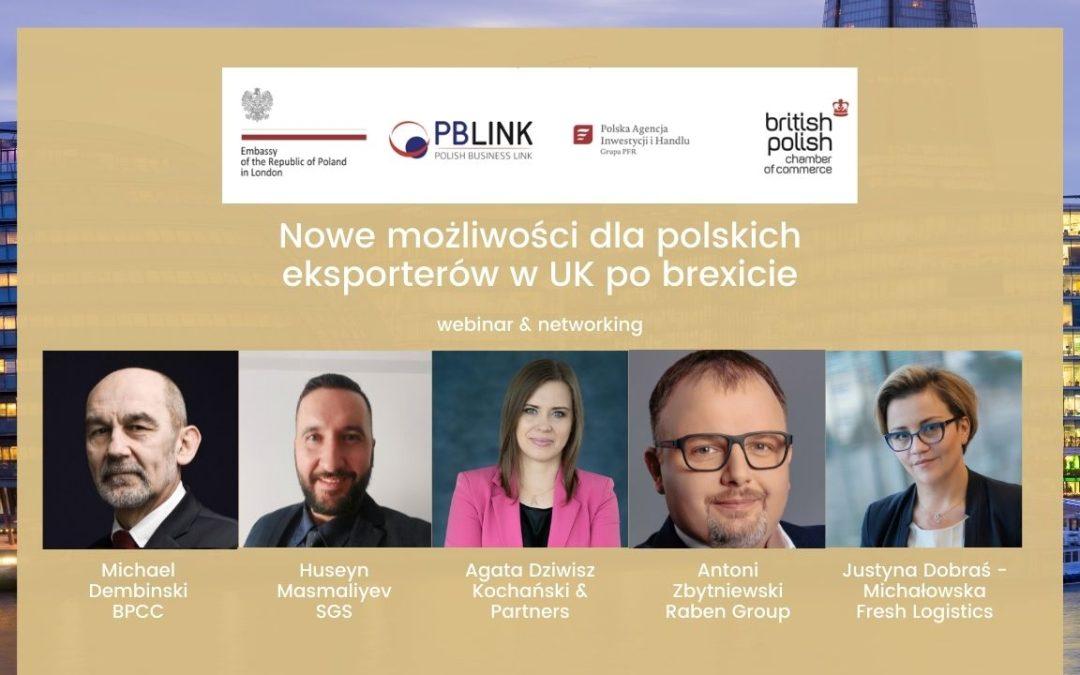 Webinarium: Nowe możliwości dla polskich eksporterów wUK pobrexicie